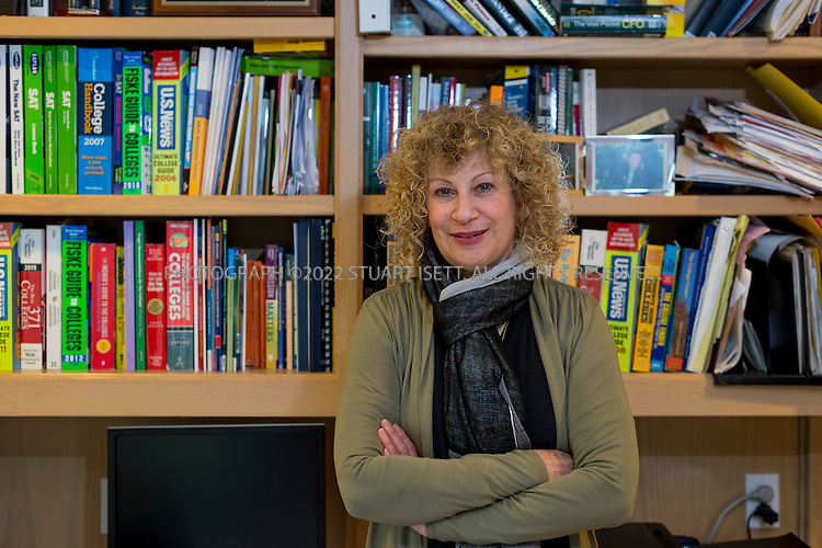 1/27/2013--Mercer Island, WA., USA..Belinda Stern poses in her office in her one on Mercer Island, just east of Seattle, WASH. Stern founded Custom College Connection and works with parents and students to find 'best fit' colleges for them...©2013 Stuart Isett. All rights reserved.