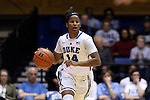 18 January 2015: Duke's Ka'lia Johnson. The Duke University Blue Devils hosted the University of Miami Hurricanes at Cameron Indoor Stadium in Durham, North Carolina in a 2014-15 NCAA Division I Women's Basketball game. Duke won the game 68-53.