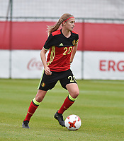 20171123 - TUBIZE , BELGIUM : Belgian Julie Biesmans pictured during a friendly game between the women teams of the Belgian Red Flames and Russia at complex Euro 2000 in Tubize , Thursday  23 October 2017 ,  PHOTO Dirk Vuylsteke | Sportpix.Be