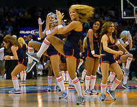 The Charlotte Bobcats cheerleaders during an NBA basketball game Time Warner Cable Arena in Charlotte, NC.