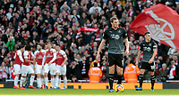 Burnley's Chris Wood cuts a frustrated figure as Arsenal's Pierre-Emerick Aubameyang puts them 1-0 ahead<br /> <br /> Photographer David Shipman/CameraSport<br /> <br /> The Premier League - Arsenal v Burnley - Saturday 22nd December 2018 - The Emirates - London<br /> <br /> World Copyright © 2018 CameraSport. All rights reserved. 43 Linden Ave. Countesthorpe. Leicester. England. LE8 5PG - Tel: +44 (0) 116 277 4147 - admin@camerasport.com - www.camerasport.com