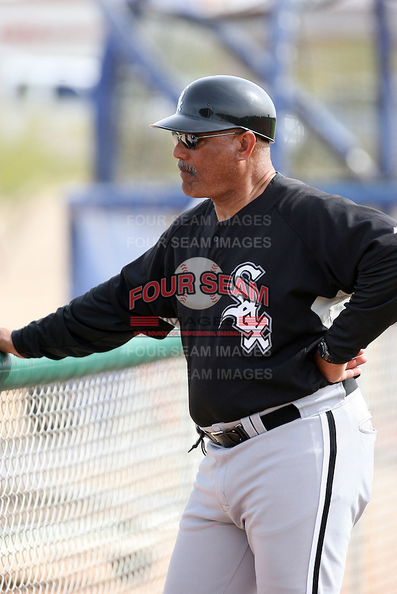 Chris Chambliss, Chicago White Sox minor league spring training..Photo by:  Bill Mitchell/Four Seam Images.