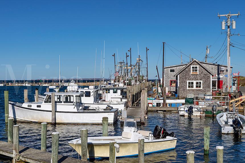 Quaint fishing village of Menemsha, Chilmark, Martha's Vineyard, Massachusetts, USA