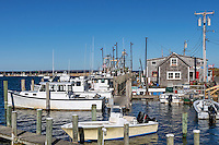 Quaint fishing village of Menemsha, Chilmark, Martha's Vineyard, Massachusetts, USA