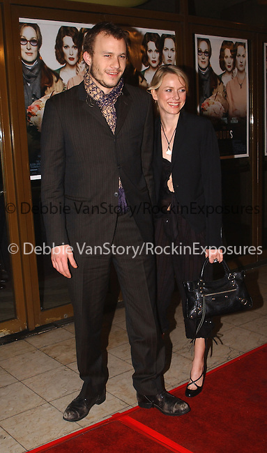 """Heath Ledger and Naomi Watts arrive to The World Premiere of """"The Hours"""" held at Mann's National Theater in Westwood California on December 18,2002.Photo by Hollywood Press Agency"""