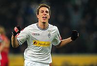 FUSSBALL   1. BUNDESLIGA   SAISON 2011/2012   18. SPIELTAG Borussia Moenchengladbach - FC Bayern Muenchen    20.01.2012 Patrick Herrmann (Borussia Moenchengladbach) bejubelt seinen Treffer zum 2:0