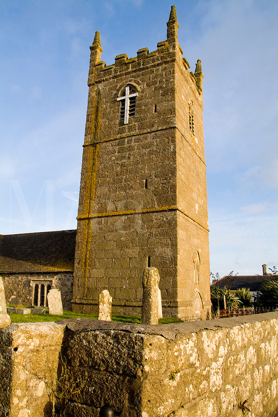 St Sennen Church founded 520 AD, England, Cornwall
