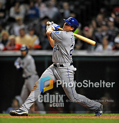 12 September 2008: Kansas City Royals' outfielder Mark Teahen in action against the Cleveland Indians at Progressive Field in Cleveland, Ohio. The Indians defeated the Royals 12-5 in the first game of their 4-game series...Mandatory Photo Credit: Ed Wolfstein Photo
