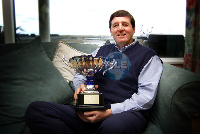Des Smyth at his home in Baltray on Monday morning after winning the Madeira Island Open..Picture: Paul Mohan/Newsfile