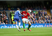Pictured: Angel Rangel tackles Hazard<br />