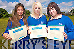 Ruzena Kristofowa (Art), Jasmine Eldred (Art).Stacey O' Mahony (Commitment to LCA) with their awards at St Brigids Secondary School on Thursday. .