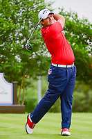 Patrick Reed (USA) watches his tee shot on 18 during round 1 of the Valero Texas Open, AT&amp;T Oaks Course, TPC San Antonio, San Antonio, Texas, USA. 4/20/2017.<br /> Picture: Golffile | Ken Murray<br /> <br /> <br /> All photo usage must carry mandatory copyright credit (&copy; Golffile | Ken Murray)