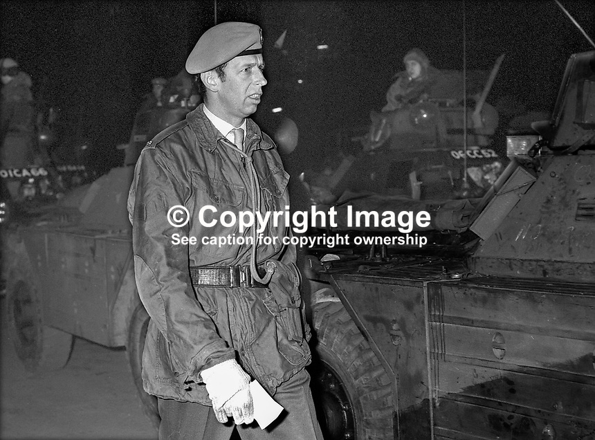 Duke of Kent serving with the British Army in N Ireland. 170/71, 197102000170b.<br />