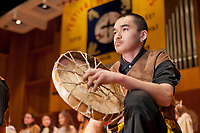 Circle Dancers perform native dance at the 2009 Festival of Native Arts, Fairbanks, Alaska. The festival is one of interior Alaska's greatest celebrations of Alaska Native culture.