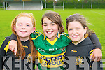 Ciara Fitzgerald, Orla O'Sullivan and Maura O'Connor at the Currow GAA funday on Sunday..