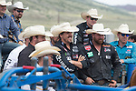Steer Wrestlers during the Cody Stampede event in Cody, WY - 7.2.2019 Photo by Christopher Thompson