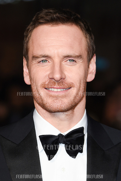 Michael Fassbender at the UK premiere of &quot;Steve Jobs&quot; on the closing night of the BFI London Film Festival 2015 at the Odeon Leicester Square, London.<br /> October 18, 2015  London, UK<br /> Picture: Steve Vas / Featureflash