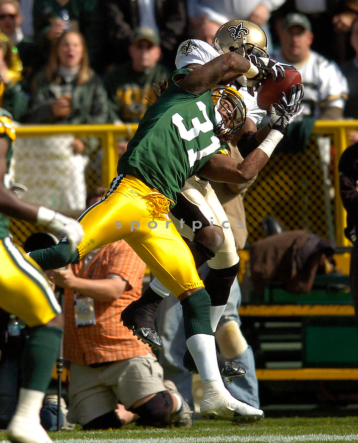 Al Harris, of the Green Bay Packers, during their game against the New Orleans Saints on October 9, 2005...Packers win 52-3...Chris Bernacchi / SportPics