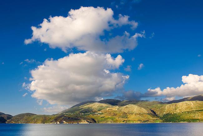 Agrostoli Bay near Lixouri, Kefalonia, Ionian Islands, Greece.