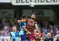 Steven Caulker of QPR  during the Pre-Season Friendly match between Wycombe Wanderers and Queens Park Rangers at Adams Park, High Wycombe, England on the 22nd July 2016. Photo by Liam McAvoy / PRiME Media Images.