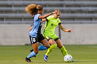 Chicago, IL - Sunday Sept. 04, 2016: Casey Short, Merritt Mathias during a regular season National Women's Soccer League (NWSL) match between the Chicago Red Stars and Seattle Reign FC at Toyota Park.