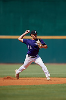 Brett Blair (16) of F. W. Buchholz High School in Gainesville, FL during the Perfect Game National Showcase at Hoover Metropolitan Stadium on June 19, 2020 in Hoover, Alabama. (Mike Janes/Four Seam Images)