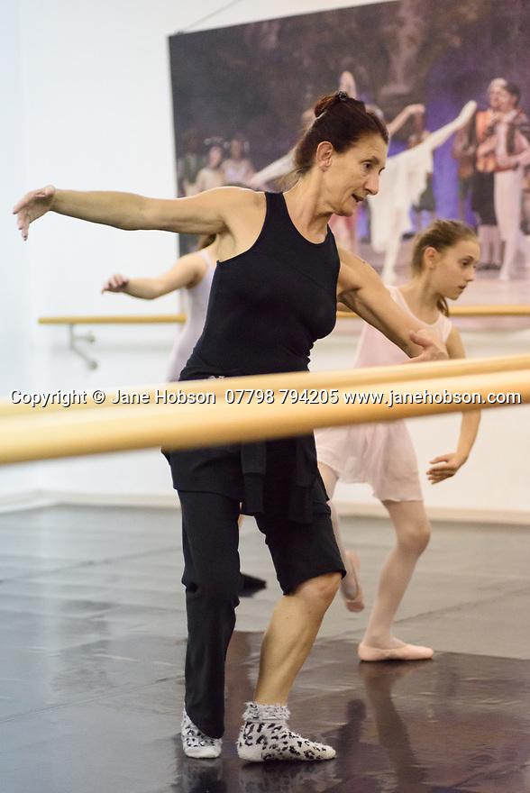 "Zadar, Croatia. 18.10.2018. Choreographer and dancer, Sanja Petrovski, teaches her 2nd year ballet students in the dance department at Glazbena Skola (Music School) ""Blagoje Bersa"", in Zadar, Croatia. Photograph © Jane Hobson."