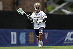 DURHAM, NC - APRIL 30: Notre Dame's Anthony Marini. The University of North Carolina Tar Heels played the University of Notre Dame Fighting Irish on April 30, 2017, at Koskinen Stadium in Durham, NC in a 2017 ACC Men's Lacrosse Tournament Championship match. UNC won the game 14-10.