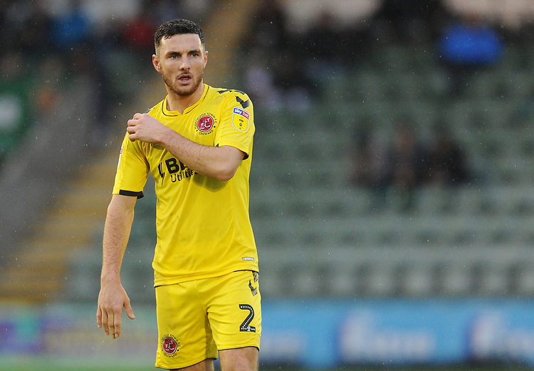 Fleetwood Town's Lewis Coyle<br /> <br /> Photographer Kevin Barnes/CameraSport<br /> <br /> The EFL Sky Bet League One - Plymouth Argyle v Fleetwood Town - Saturday 24th November 2018 - Home Park - Plymouth<br /> <br /> World Copyright © 2018 CameraSport. All rights reserved. 43 Linden Ave. Countesthorpe. Leicester. England. LE8 5PG - Tel: +44 (0) 116 277 4147 - admin@camerasport.com - www.camerasport.com