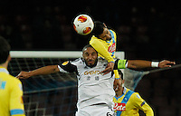 Miguel Britos  Ashley Williams<br /> <br />  UEFA Europa League round of 32 second  leg match, betweenAC  Napoli  and Swansea City   at San Paolo stadium in Naples, Feburary 27 , 2014