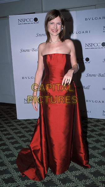 KATIE DERHAM.NSPCC Snow Ball at the Mandarin Oriental.www.capitalpictures.com.sales@capitalpictures.com.©Capital Pictures.red strapless dress