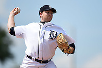 Detroit Tigers pitcher Spencer Turnbull (53) during a minor league spring training game against the Houston Astros on March 25, 2015 at Tiger Town in Lakeland, Florida.  (Mike Janes/Four Seam Images)