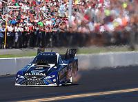 Sep 16, 2018; Mohnton, PA, USA; NHRA funny car driver Shawn Langdon during the Dodge Nationals at Maple Grove Raceway. Mandatory Credit: Mark J. Rebilas-USA TODAY Sports