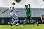 07.07.2019, Parkstadion, Zell am Ziller, AUT, TL Werder Bremen Zell am Ziller / Zillertal Tag 03 - FSP Blitzturnier<br /> <br /> im Bild<br /> DAVID GUGGANIG (WSG Tirol #04) im Duell / im Zweikampf mit Fin Bartels (Werder Bremen #22), <br /> <br /> im ersten Spiel des Blitzturniers SV Werder Bremen vs WSG Swarowski Tirol, <br /> <br /> Foto © nordphoto / Ewert