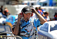 Jul. 17, 2010; Sonoma, CA, USA; NHRA pro stock crew chief Jerry Eckman during qualifying for the Fram Autolite Nationals at Infineon Raceway. Mandatory Credit: Mark J. Rebilas-