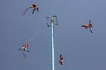 Mexico, Mexico City , Chapultepec Park, Danza de los Voladores, ancient Mesoamerican ceremony