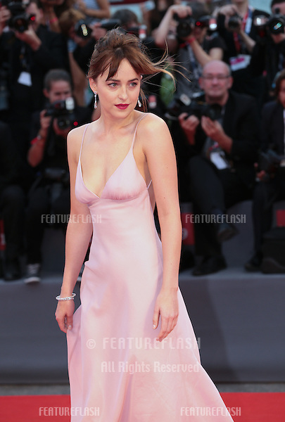 Dakota Johnson at the premiere of Black Mass at the 2015 Venice Film Festival.<br /> September 4, 2015  Venice, Italy<br /> Picture: Kristina Afanasyeva / Featureflash