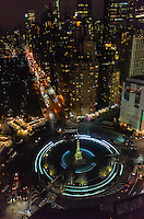 America,New York,  Manhattan, night landscape from the Mandarin rooftop