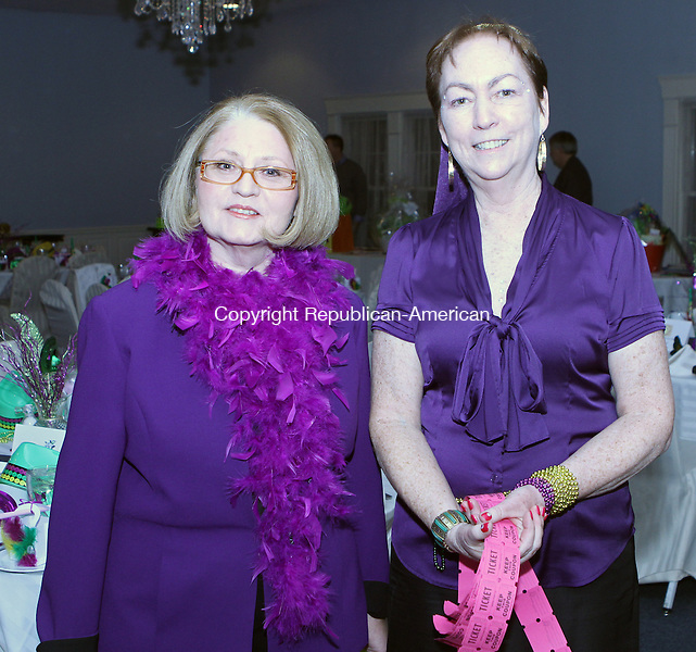 Winsted, CT-020213MK50  (from left) Janet Closson and Mary Barbro, members of the lake association, gathered during the Highland Lake Watershed Association annual dinner dance at Crystal Peak in Winsted. Michael Kabelka Republican American