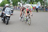 WIELRENNEN: URETERP: 22-06-2014, NK Wielrennen, Sven Kramer in de achtervolging op de koplopers, ©foto Martin de Jong