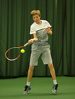 Rotterdam, The Netherlands, March 18, 2016,  TV Victoria, NOJK 14/18 years, Liam Liles (NED)<br /> Photo: Tennisimages/Henk Koster