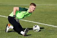 Republic of Ireland & Liverpool goalkeeper, Caoimhin Kelleher warms up ahead of kick-off during Republic Of Ireland Under-21 vs Mexico Under-21, Tournoi Maurice Revello Football at Stade Parsemain on 6th June 2019