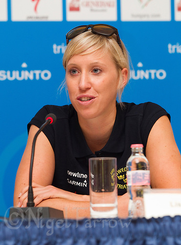10 SEP 2010 - BUDAPEST, HUN - Lisa Norden - ITU World Championships Series Final Press Conference.(PHOTO (C) NIGEL FARROW)