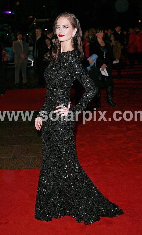 **ALL ROUND PICTURES FROM SOLARPIX.COM**.*WORLDWIDE RIGHTS*.Guests arrive for the World Premiere of The Golden Compass, at the Empire, Leicester Square, London. 27th November 2007..This pic: Eva Green. .JOB REF:   5408  GMT   DATE: 27_11_2007.**MUST CREDIT SOLARPIX.COM OR DOUBLE FEE WILL BE CHARGED* *UNDER NO CIRCUMSTANCES IS THIS IMAGE TO BE REPRODUCED FOR ANY ONLINE EDITION WITHOUT PRIOR PERMISSION*