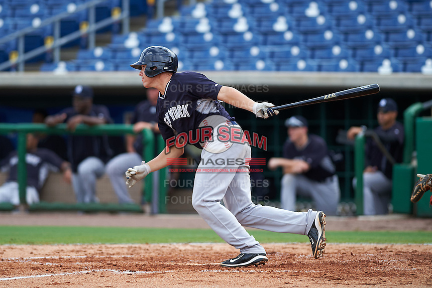 New York Yankees Donny Sands (66) during an instructional league game against the Philadelphia Phillies on September 29, 2015 at Brighthouse Field in Clearwater, Florida.  (Mike Janes/Four Seam Images)