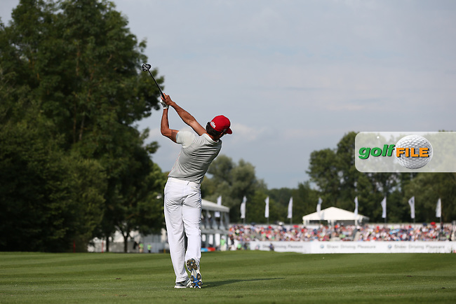 Rafa Cabrera-Bello (ESP) plays approach shot to the last during Round Three of the 2015 BMW International Open at Golfclub Munchen Eichenried, Eichenried, Munich, Germany. 27/06/2015. Picture David Lloyd | www.golffile.ie