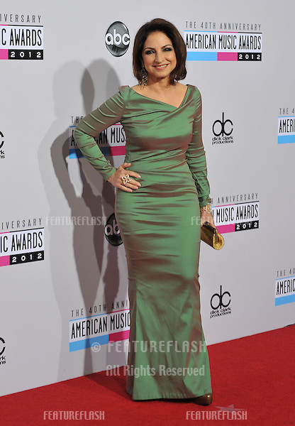 Gloria Estefan at the 40th Anniversary American Music Awards at the Nokia Theatre LA Live..November 18, 2012  Los Angeles, CA.Picture: Paul Smith / Featureflash