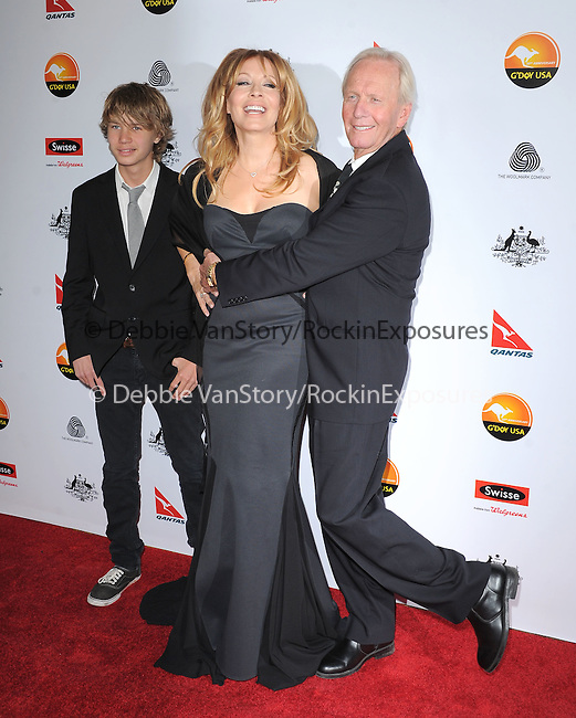 Paul Hogan and Linda Kozlowski at The G'Day USA Black Tie Gala held at The JW Marriot at LA Live in Los Angeles, California on January 12,2013                                                                   Copyright 2013 Hollywood Press Agency