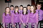 Dancers from Gneeveguilla who performed to a full house at the Barr Na Sraide Comhaltas night in The ring of Kerry Hotel on Friday last were l-r; Ciara Doherty, Ciaran O'Sullivan, Danielle Vaughan, Dean Crowley, Rachel McGillicuddy, Conor Crowley, Aislinn McGillicuddy & Andrew McCarthy.