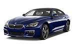 2019 BMW 6-Series-Gran-Coupe 640i-xDrive-M-Sport-Edition-AWD 4 Door Sedan Angular Front stock photos of front three quarter view